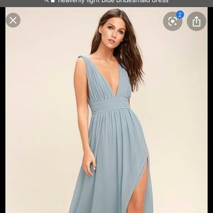 Heaenly blue midi dress